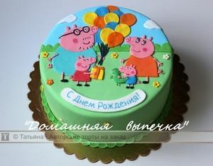 картинка свинка пеппа на торт
