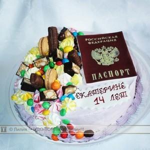 фото торт на 14 лет паспорт
