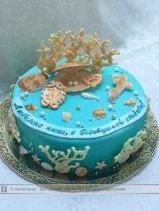 Торт на коралловую свадьбу, продажа тортов на 35 лет