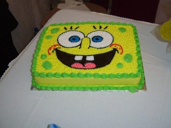 Торт «Рисунок лица Спанч Боба ...: торты.сайт/Детские торты/Сказки и...