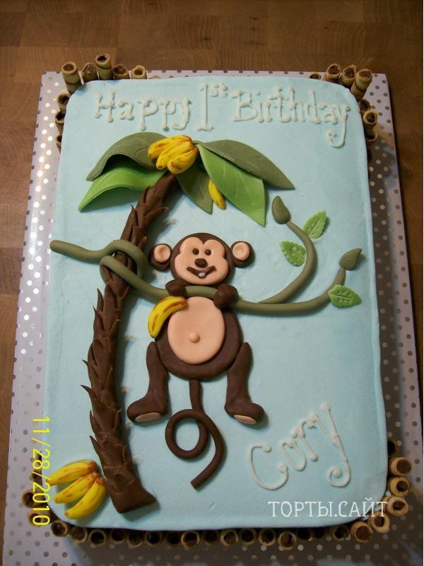 торт обезьяна фото