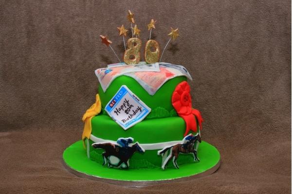 Торт «Скачки» категории торты с рулетками, покером и другими ...