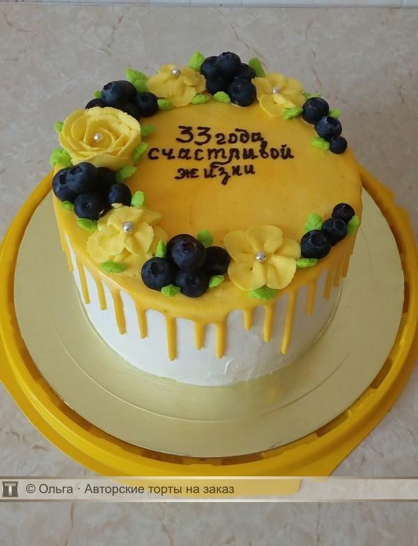 Торт на годовщину свадьбы без мастики фото