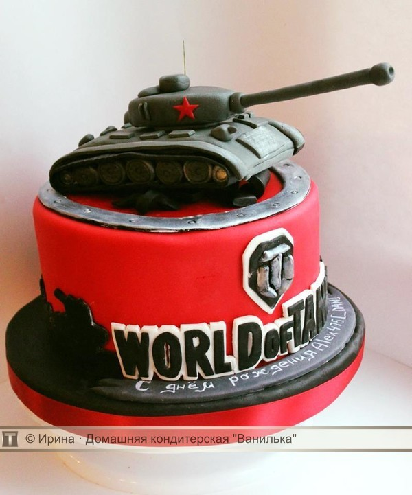 Торт «Фанатам World Of Tanks»