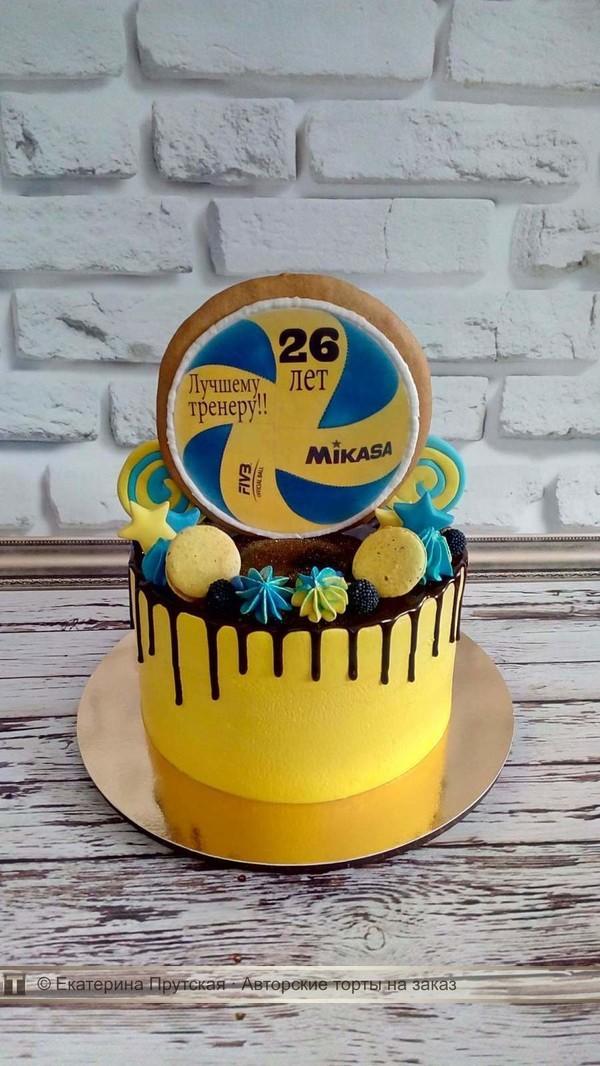 Торт для волейболиста из мастики фото