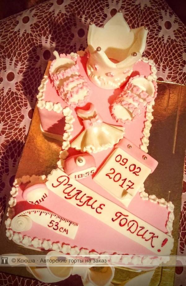 торт на годик в форме виктории фото пух