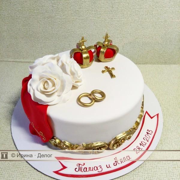 особенность торты на венчание фото позволит