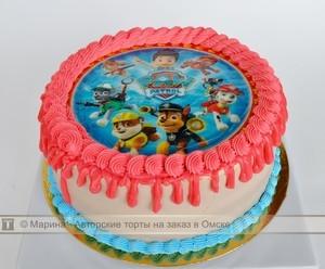 торт щенячий патруль фото кремовый