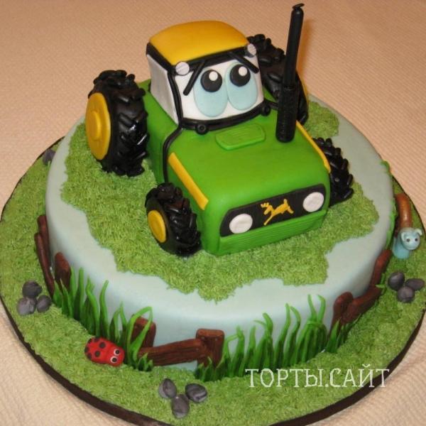 Торты -трактора фото