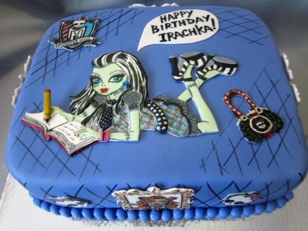 Фото торты на заказ девочке с монстер хай