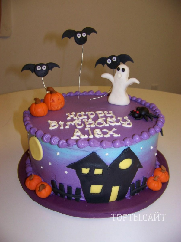 Торт на хелллуин фото
