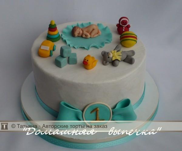 Торт с игрушками на годик