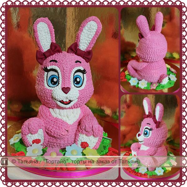 Розовые торты с зайцами фото