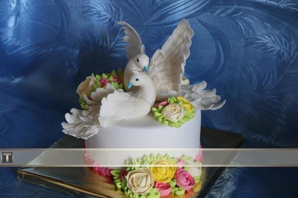 Торты с голубями фото