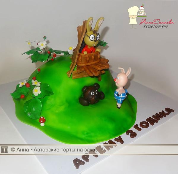 Торт с фигурками винни пух