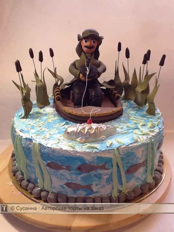 рыбак фигурка на торт