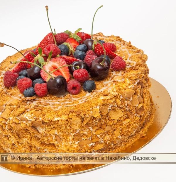Торт медовик с фруктами рецепт с фото