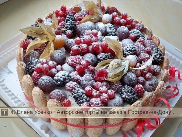Украшение тортов фруктами и ягодами своими руками