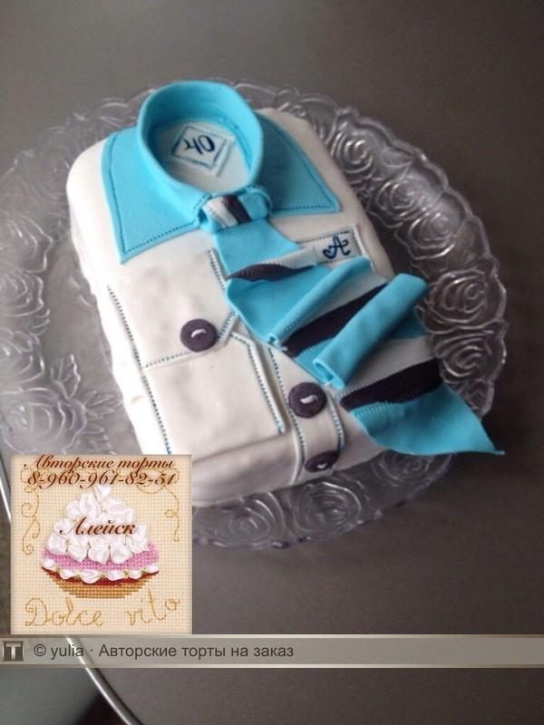 Мк сделать торт рубашка фото